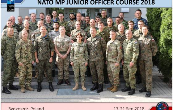 The 6th edition of NATO Military Police Junior Officer Course 17-21 September 2018