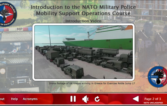 ADL 188 Introduction to the NATO Military Police Mobility Support Operations Course.