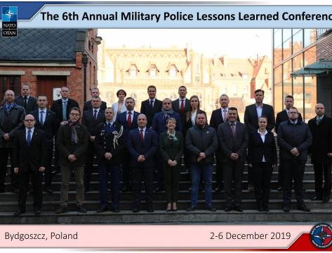 ​The Annual Military Police Lessons Learned Conference 2-5 December 2019