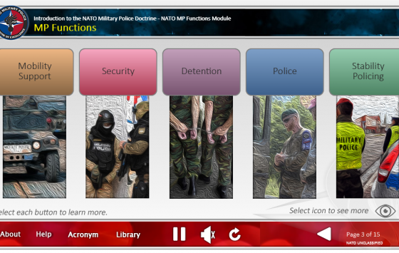 ​Keeping ADL 186 Introduction to the NATO Military Police Doctrine up to date