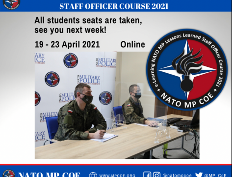 Online NATO Military Police Lessons Learned Staff Officer Course 2021