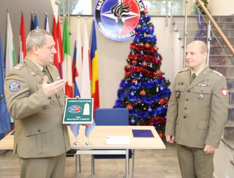 ​The very first change of command and farewell ceremony at the NATO Military Police Centre of Excellence.