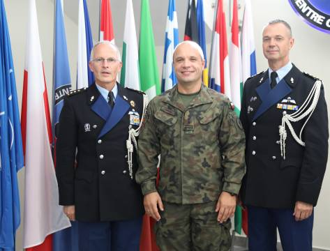 ​Visit of the outgoing Provost Marshal, COL NOORT, and the incoming Provost Marshal COL Johannes Vroegh