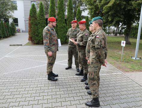 Deputy Director handover/takeover ceremony at the NATO Military Police Centre of Excellence.
